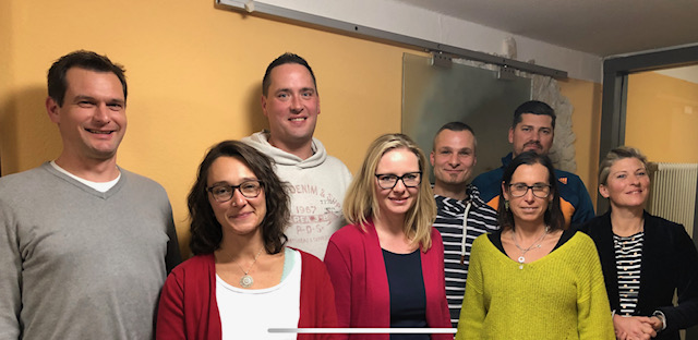 Gut gelaunte neue Vorstandsmannschaft des Fördervereins der Grund- und Werkrealschule Kißlegg